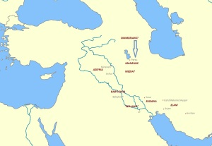 A map of Mesopotamia in the first century BCE