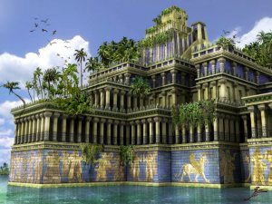 "Modern, Artist's imagination of the ""Hanging Gardens of Babylon"""