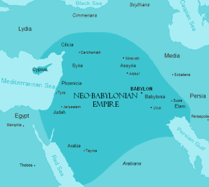 Map of the Neo-Babylonian (Chaldean) Empire