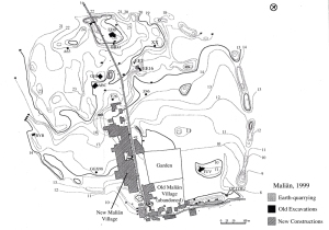 Drawing of the archaeological site of Malyan (Anshan)