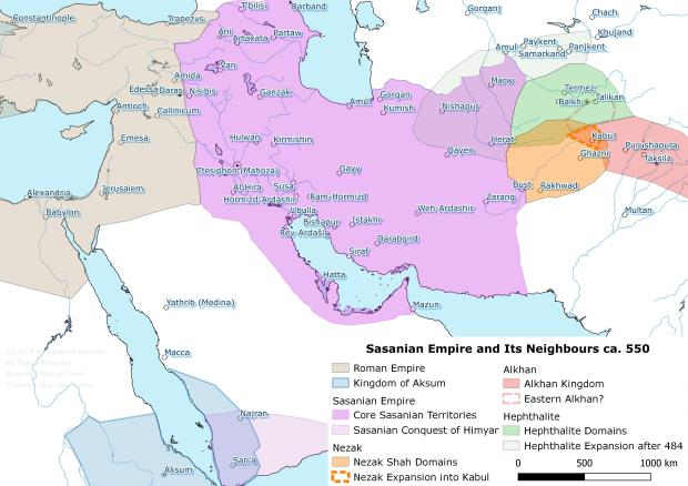 Sasanians-Hephthalites-Nexak Shah- Alkhans