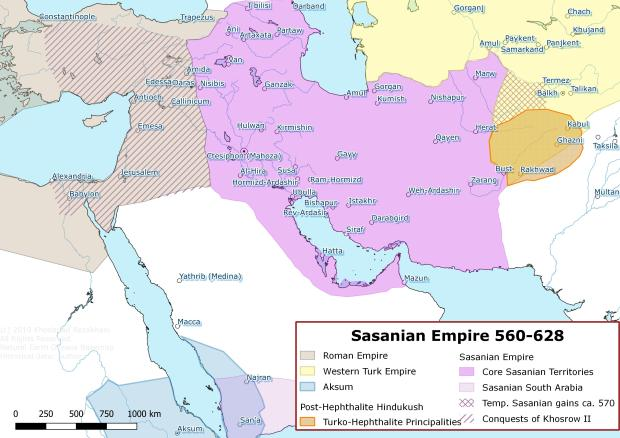 Sasanians Empire and Its Neighbours 560-630 CE